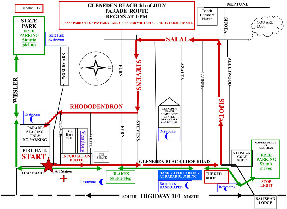 July 4th Parade Route Map 2019