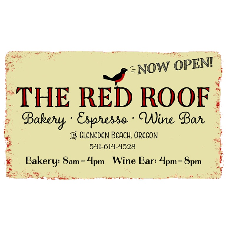The Red Roof - Baked goods, coffee, soup of the day, some savory options, beer, and wine.