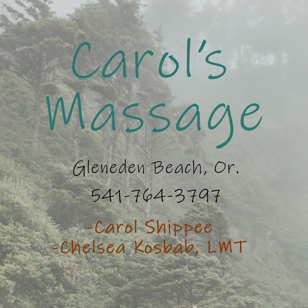 Carol's Massage - Schedule an appointment with Carol or Chelsea today! Carol's Massage is located in Gleneden Beach, Or. and offer an array of relaxing services.