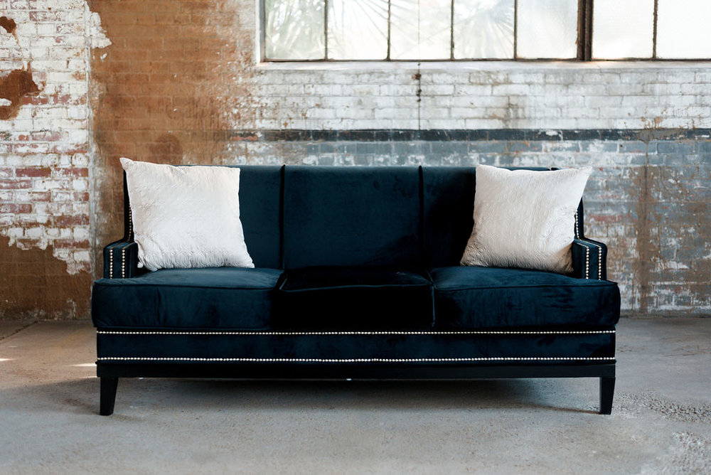 Abe Sofa in Black Velvet