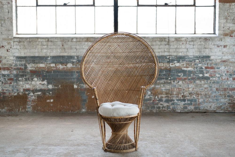 Boho Prince - Wicker Peacock Chair