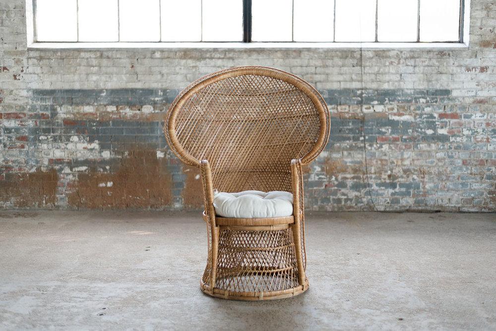 Boho Princess - Wicker Peacock Chair