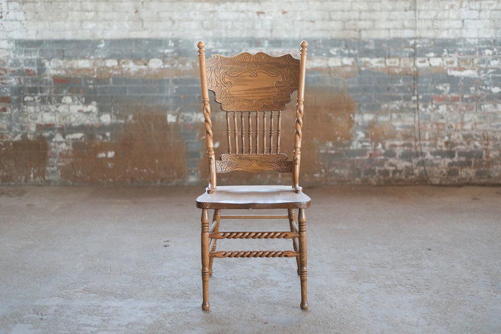 Caleb Dining Chair in Oak Wood
