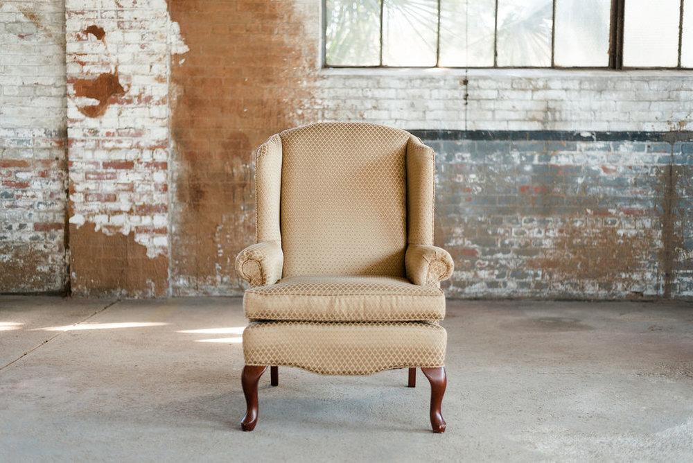 Carmine - Armchair/Wingback Chair in Gold