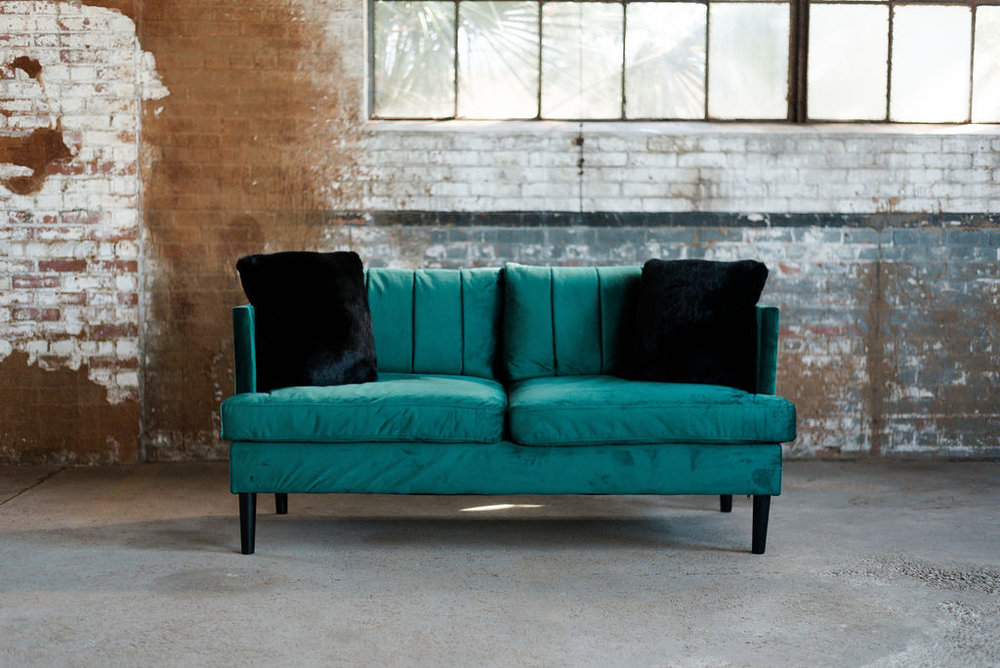Dorothy Sofa in Green Velvet
