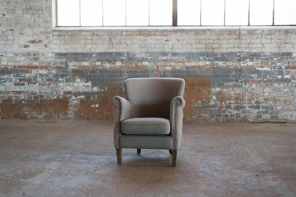 Liam Armchair in Grey