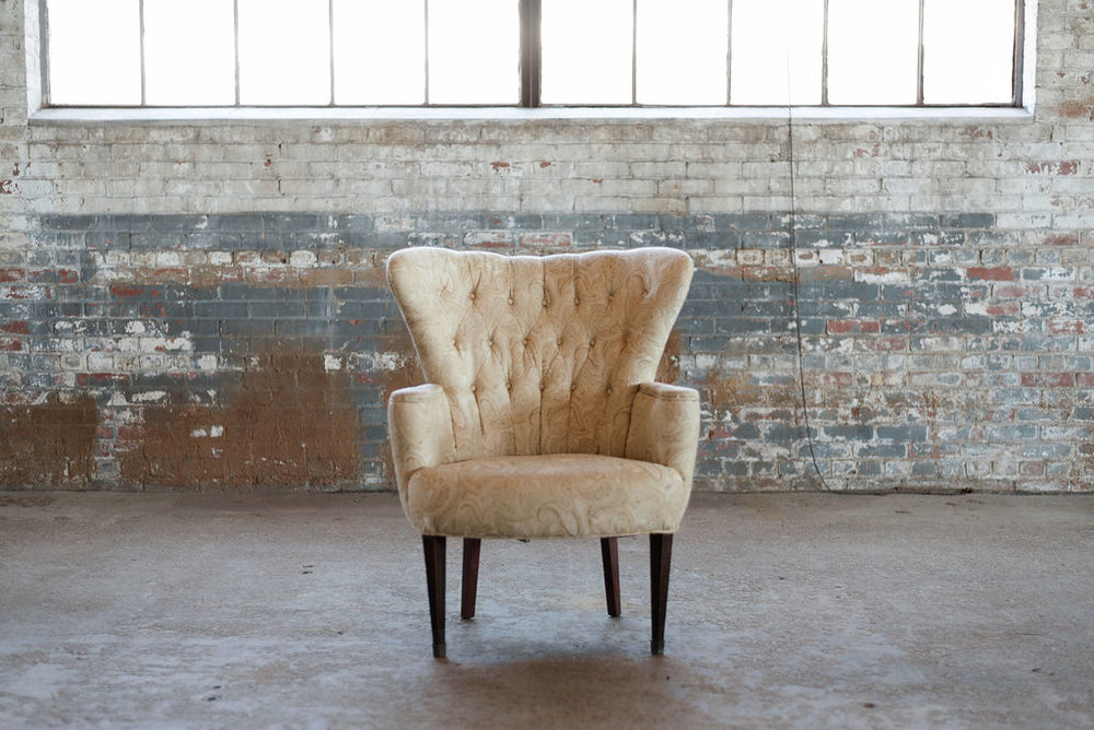 Paisley Armchair in Yellow
