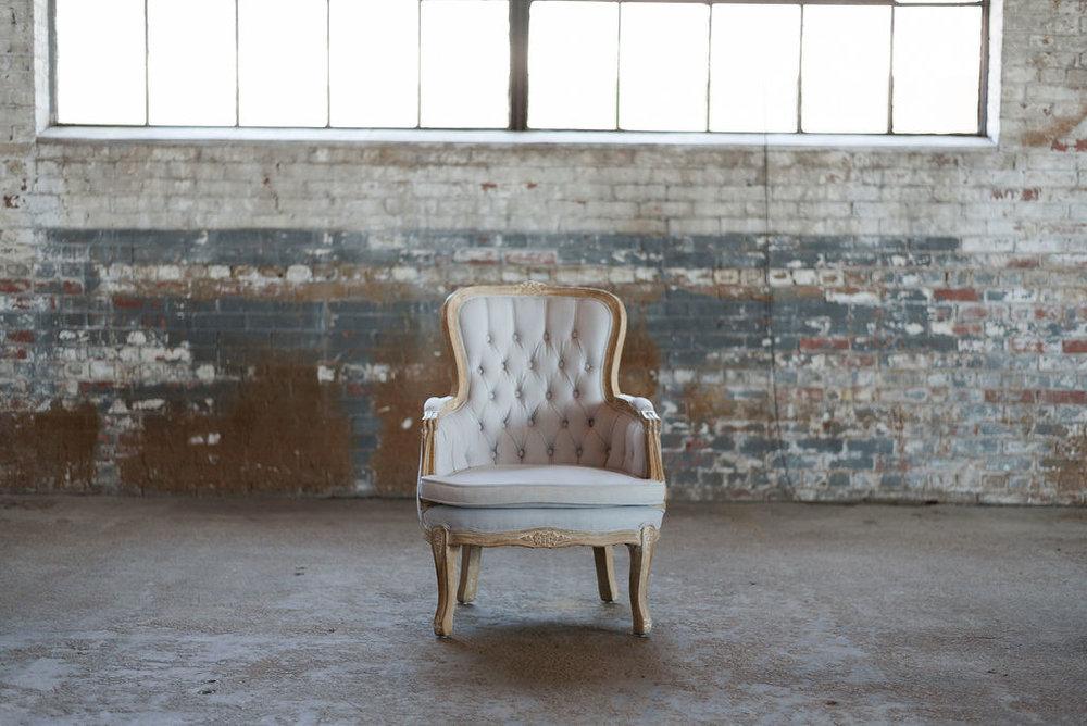 Renee Armchair in Lavender Grey