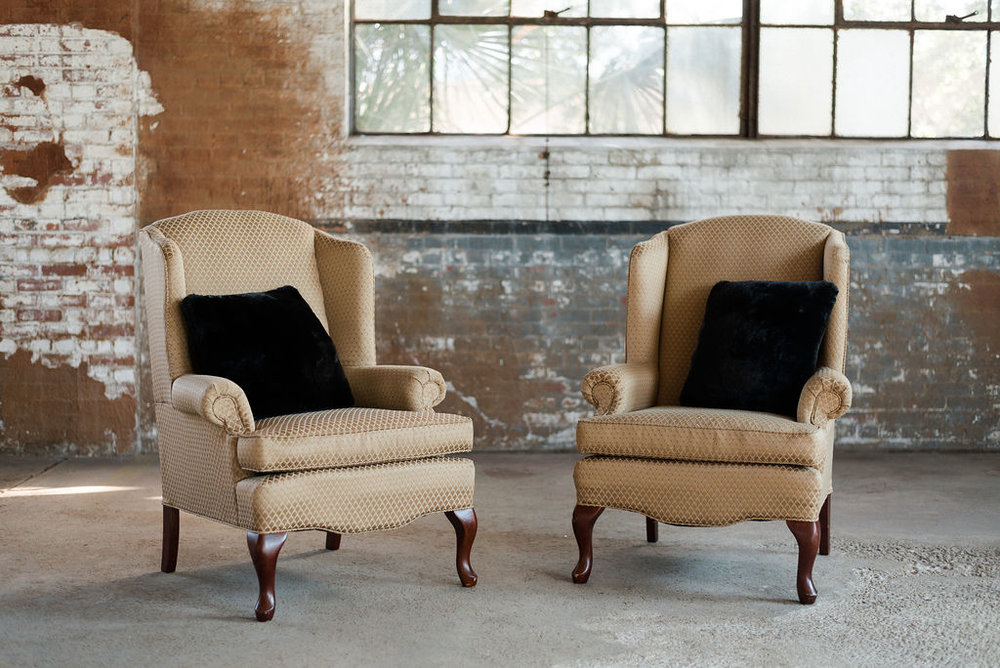 The Carmines - Armchair/Wingback Chair in Gold