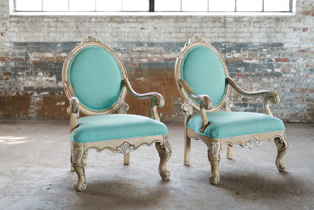 The Nick Armchairs in Turquoise