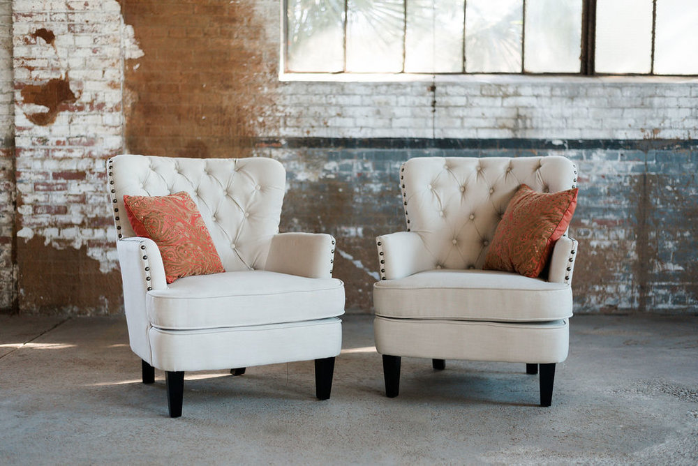 The Roscoes Armchairs in Ivory