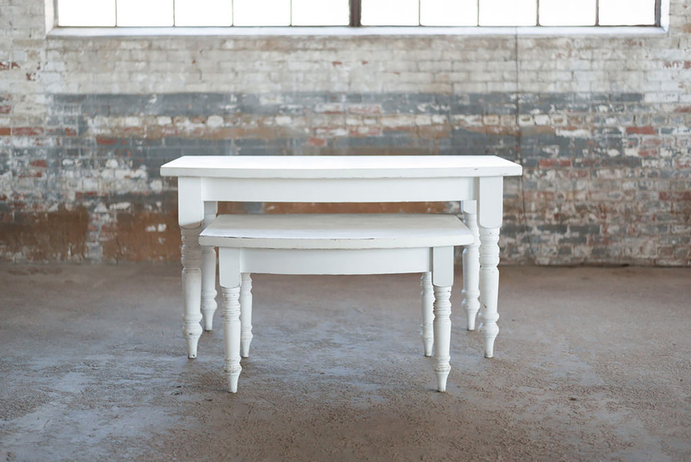 Alley Farm Table Set in White