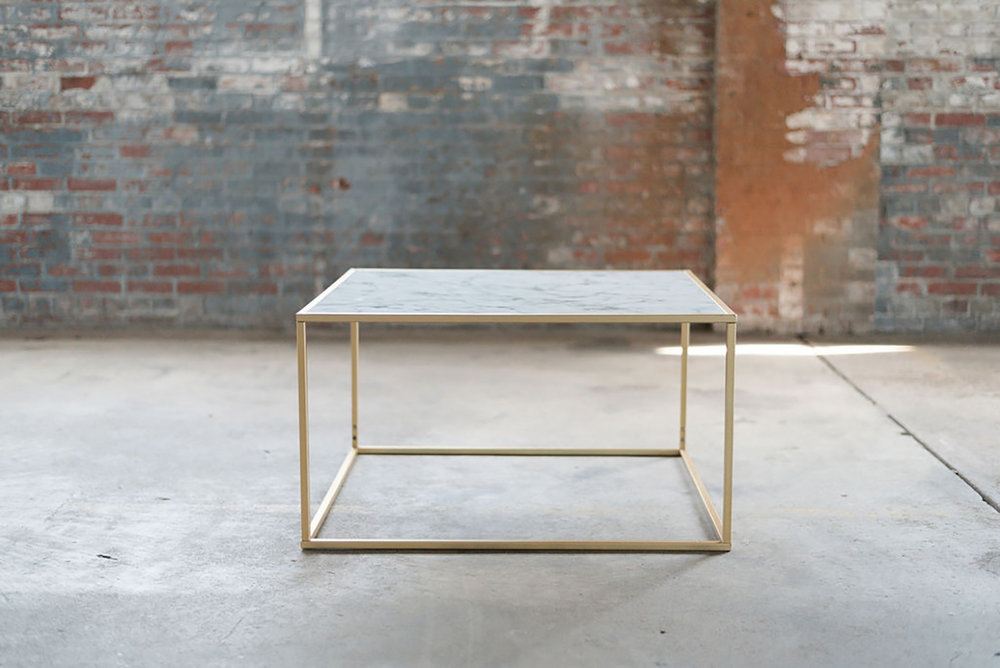 Caesar Coffee Table in Marble & Gold