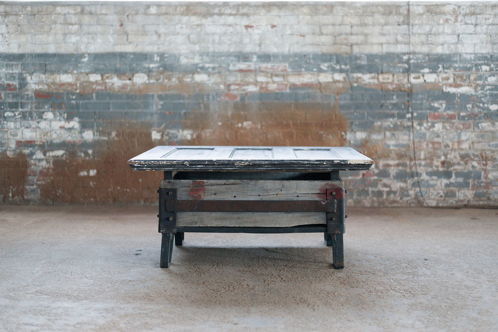 Hennessy Coffee Table - Wood + Industrial
