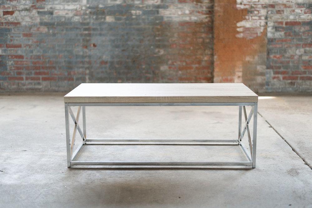 Key West Coffee Tables - Wood + Silver