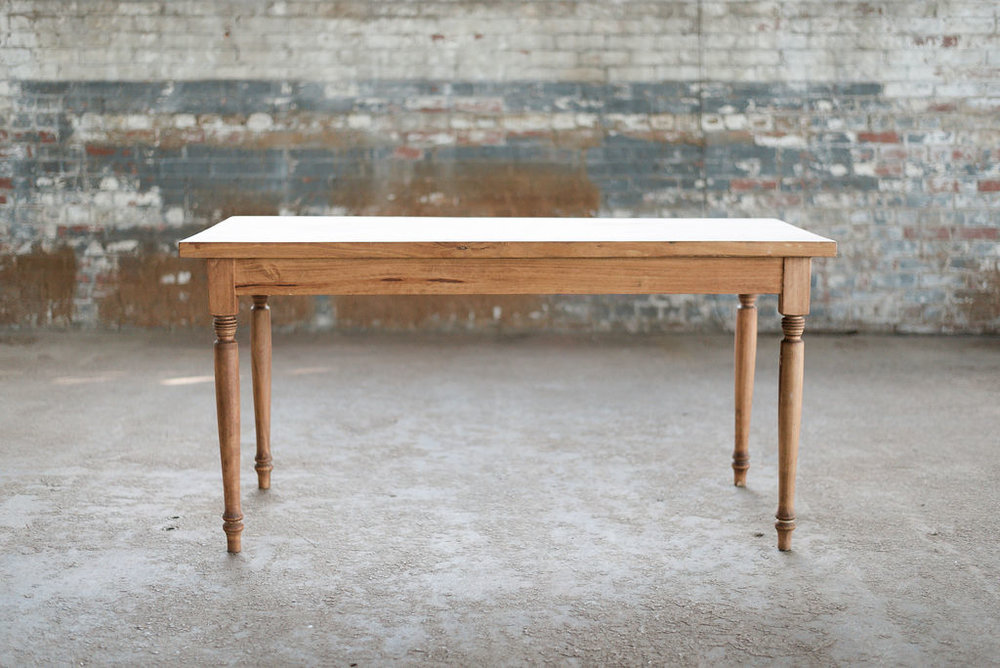 Rain Petite Farm Table - Wood