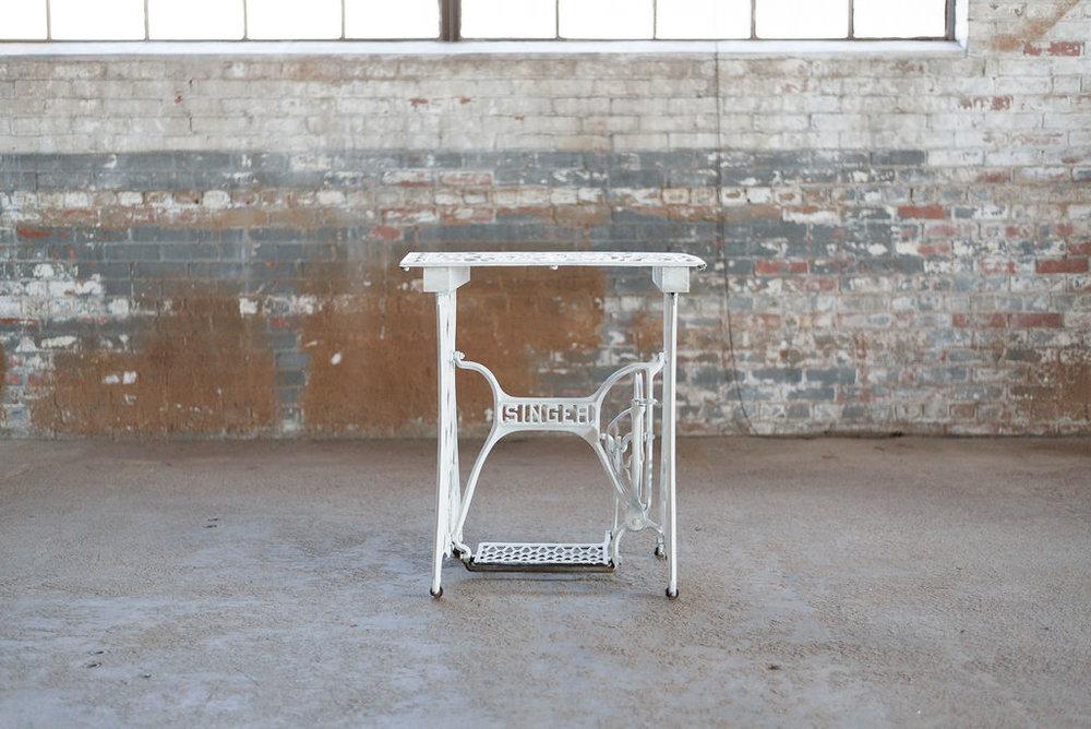 Singer Table - White