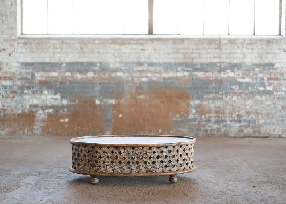 Tribal Coffee Table- Boho Teak Wood