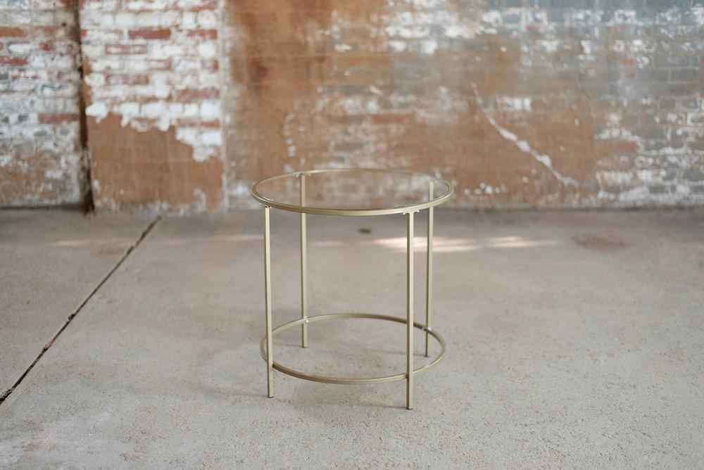 Nola End Table - Gold