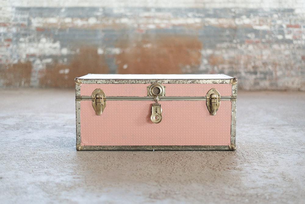 Light Pink Small Footlocker - Trunk