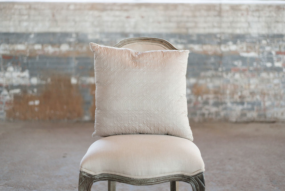 Ivory Quilted - Square