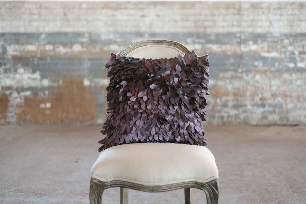 Purple Leaf Taffeta - Square