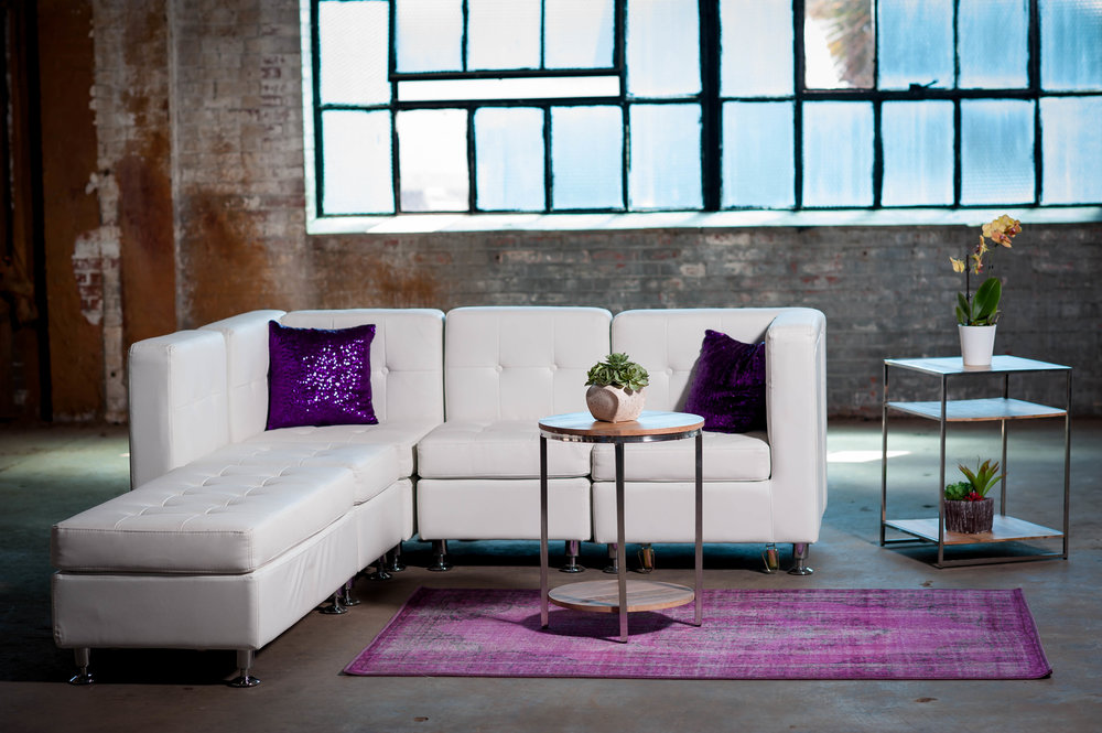Jordan Lounge Group - White Leather