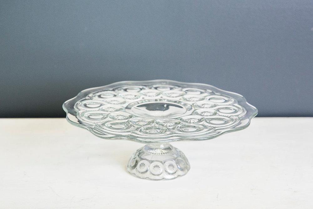 Julia Vintage Cake Plate Stand - Glass