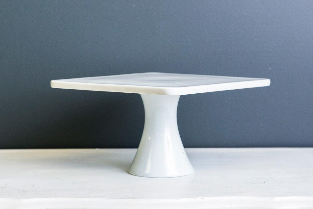 Kaylee Cake Plate Stand - White