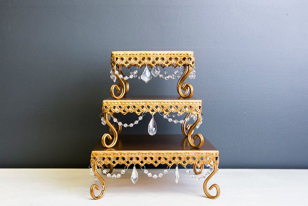 Loopy Dessert Stand Collection - Gold