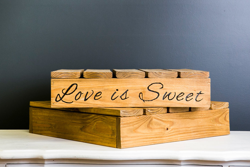 Love is Sweet Cake Pallet Assortment - Wood
