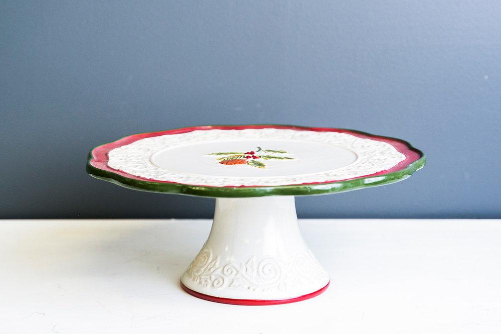 Noel Cake Plate Stand - Christmas