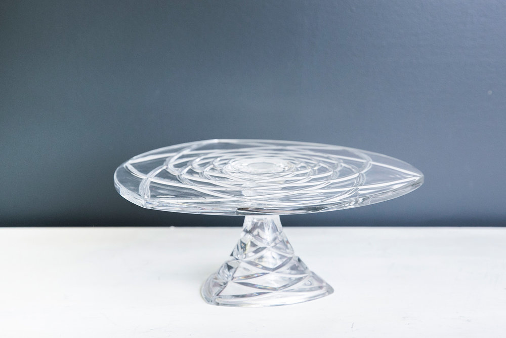 Rosaline Cake Plate Stand - Glass