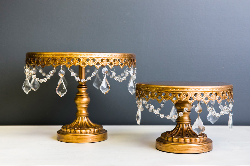 Sophia Cake Plate Collection - Gold