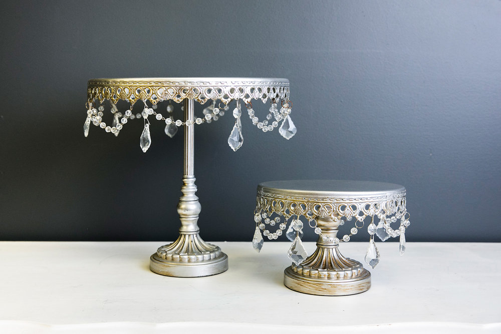 Sophia Cake Plate Collection - Silver
