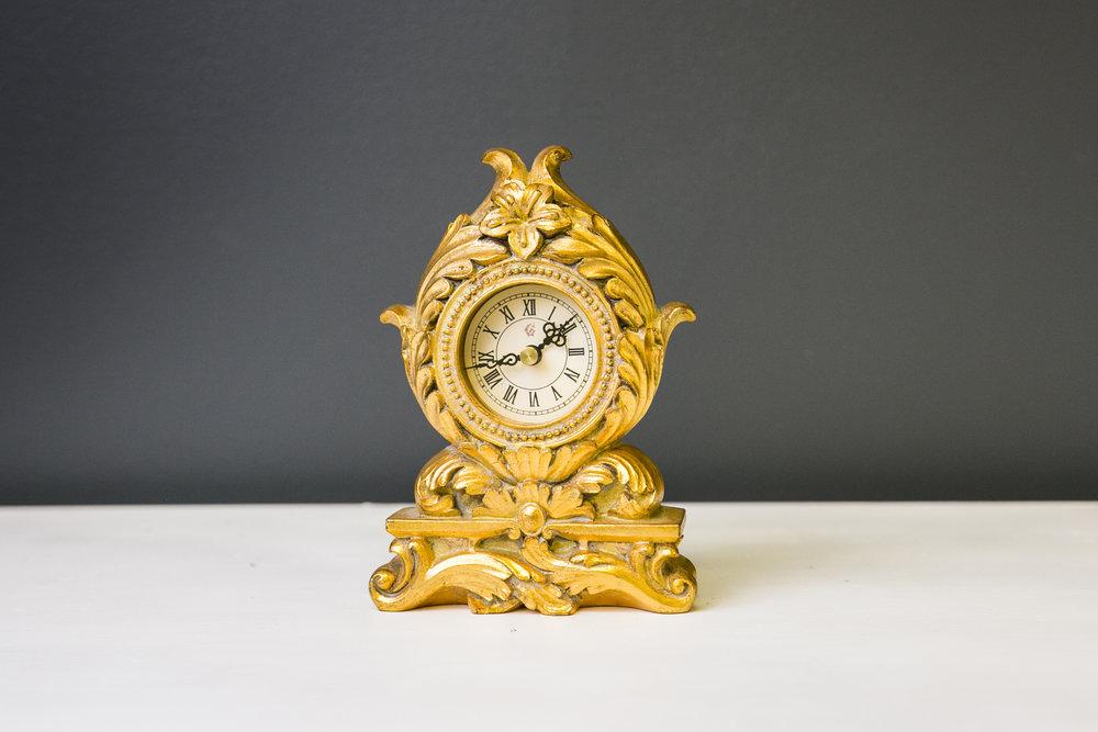 Gold Victorian Clock