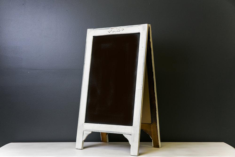 White Bennet A-Frame Chalkboard 25 x 17