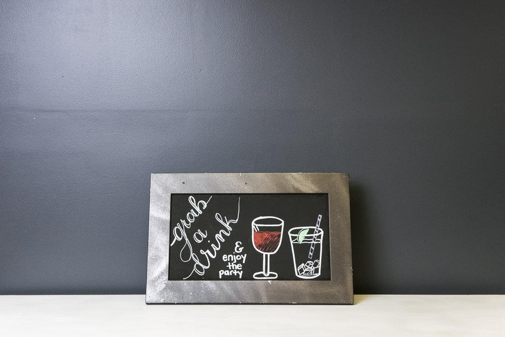 Drinks Chalkboard Sign 20 x 13