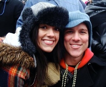 Ten years ago today, I walked into a bar and a drunk stranger threw his arm around me and asked if he could find me a Valentine. Playing along, I looked around the crowded bar and pointed at you @mattlefevere — Now, a decade later, I love you so much it's gross. Happy Anniversary!!! Ahhh!!! 😘