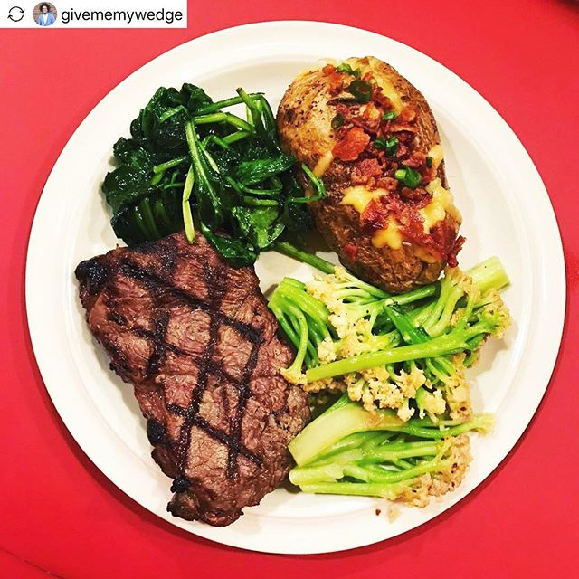 #repost_easily @givememywedge We deliver with @doordash ****** Dining In, But Dining Well! - Thank you @chefgeoffsrestaurant for the delicious meal courtesy of @doordash  Ended up getting a steak, loaded baked potato, spinach, and some cheddar broccolini.  Absolutely amazing and we'll definitely have to visit your Tyson's location soon when we have some time off.  I highly recommend you check out CG's if you're in the DMV area.  Definitely worth it!⠀ .⠀ .⠀ .⠀ .⠀ .⠀ .⠀ .⠀ .⠀ .⠀ .⠀ .⠀ .⠀ #latergram #steak #broccolini #potatoes #bacon #foodie #food #dinner #chefgeoffs #DMV #DC #life #city #love #eat #yummy #cheese #goodtimes #work #cheddar #baked #chef #blogger #influencer #marketing #review #jbeatshere #restaurant #home ⠀ ⠀