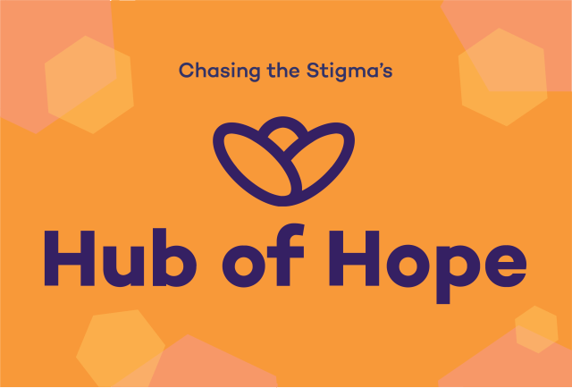 Click the Hub of Hope logo and enter your postcode to find out about mental health support available in your area