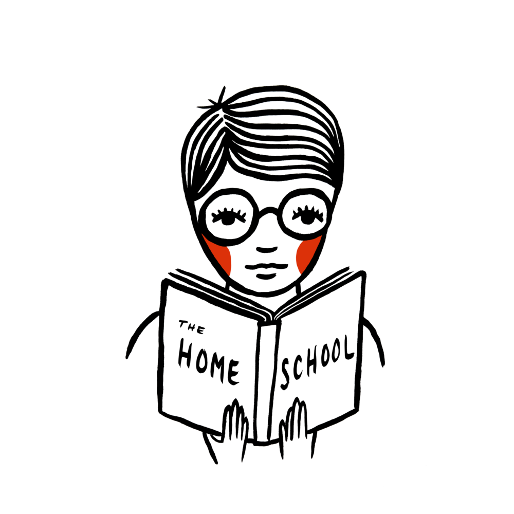 home school nerdy kid hand painted illustration book by em randall