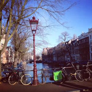 bike canal amsterdam