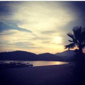 olu deniz sunset