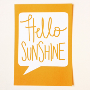 paperchase hello sunshine postcard