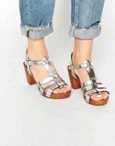 asos haberdasher leather heeled sandals