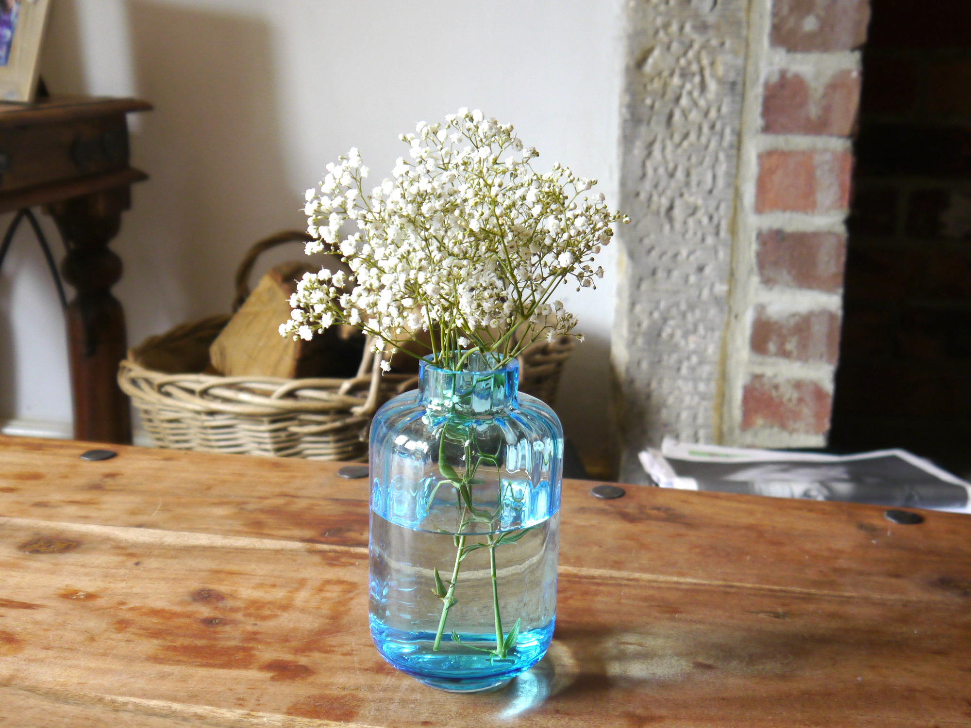 dartington blue vase