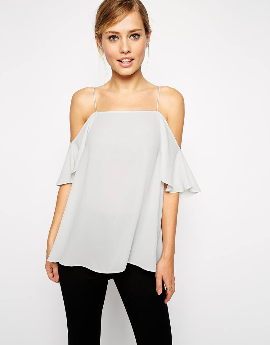 asos cold shoulder cami top