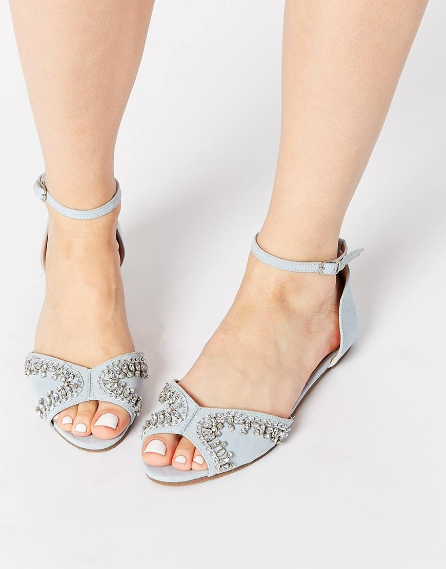 asos jemrock embellished two part sandals