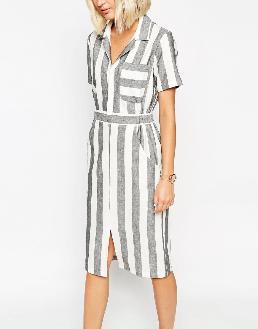 asos shirt dress stripe